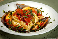 Nantucket-Style Linguini with Mussels Arrabiatta