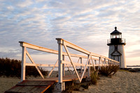 Boardwalk, Brant Point Light -Nantucket