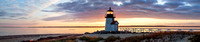 Sunrise at Brant Point, Nantucket - Panorama